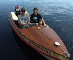 Classic Thompson Wood Boat