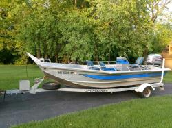 1998 - 18ft Aluminum River Boat- 140 HP