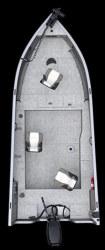 Crestliner Boats Fish Hawk 1600 Tiller Fishing Boat