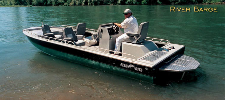 Research fish rite boats river barge 20 bay boat on for Aluminum fish and ski boats