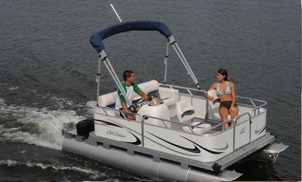 Research 2009 Gillgetter Pontoon Boats 715 Fish N