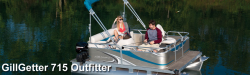 2015 - Gillgetter Pontoon Boats - 715 Outfitter