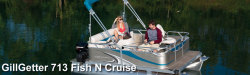 2015 - Gillgetter Pontoon Boats - 713 Fish N Cruise