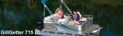 2015 - Gillgetter Pontoon Boats - 715 RL