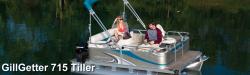 2017 - Gillgetter Pontoon Boats - 7515 Tiller