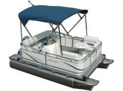 Gillgetter Pontoons 713 Tiller Pontoon Boat