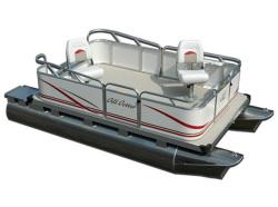Gillgetter Pontoons 613 Tiller Pontoon Boat