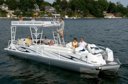 2012 - JC Pontoon Boats - TriToon 306 IO