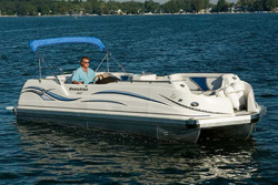 JC Pontoon Boats Evolution 240 IO Pontoon Boat