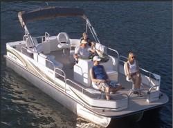 Landau Boats A-Lure 234 CC Tri-Log Pontoon Boat