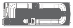 2014 - Manitou Boats - 24 Aurora Twin Tube x23