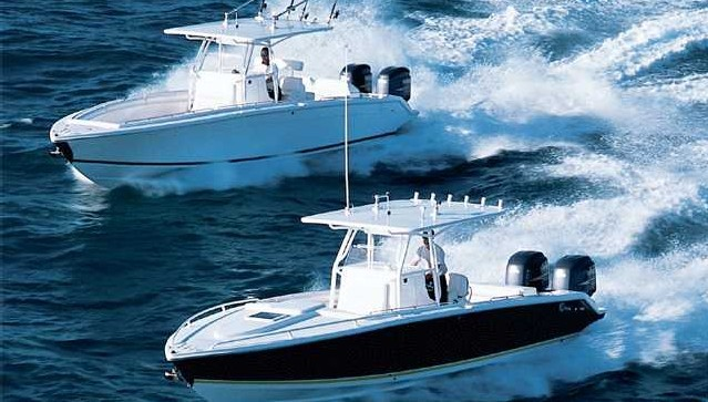 Research Marlago Yachts Fs35 Cuddy Center Console Boat On