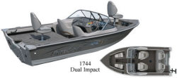 Mirrocraft Boats 1744 Dual Impact Utility Boat