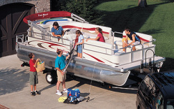 Parti Kraft PK 2180 RE-4 Gate Pontoon Boat