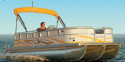 Forest River South Bay 8525CPTR TT IO Pontoon Boat
