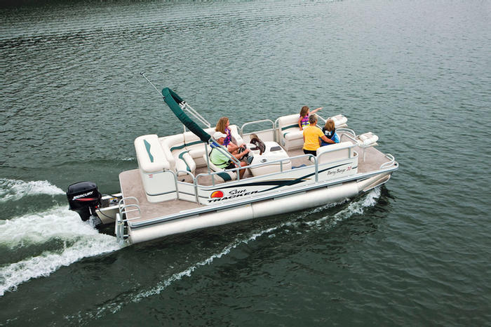 Image result for 2010 Tracker 24 Party Barge