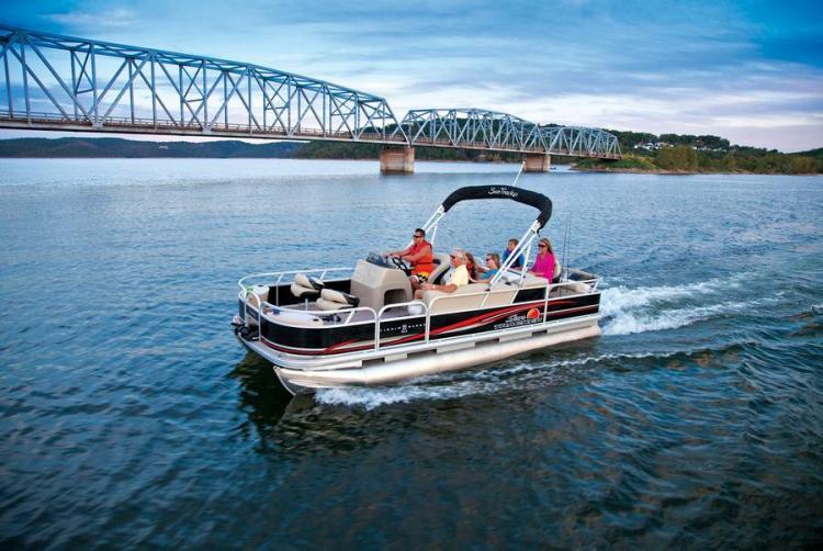 Research 2013 Sun Tracker Fishin Barge 22 Dlx On