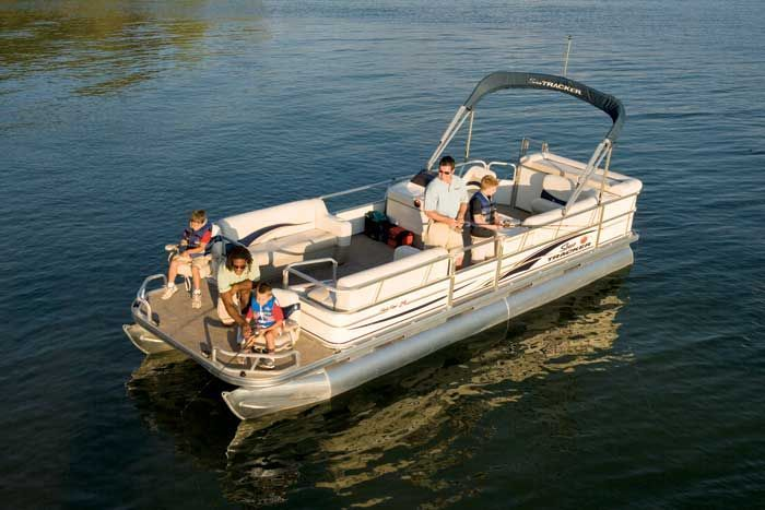 Research sun tracker party barge 24 signature pontoon boat for Party boat fishing near me