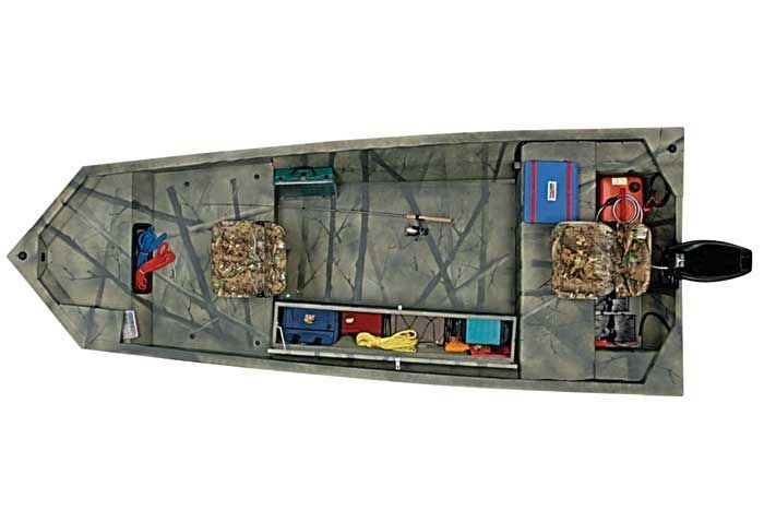 Research Tracker Boats Grizzly 1548 T Blind Duck Hunting