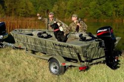 Tracker Boats Grizzly 1548 T Blind Duck Hunting and Duck Boat