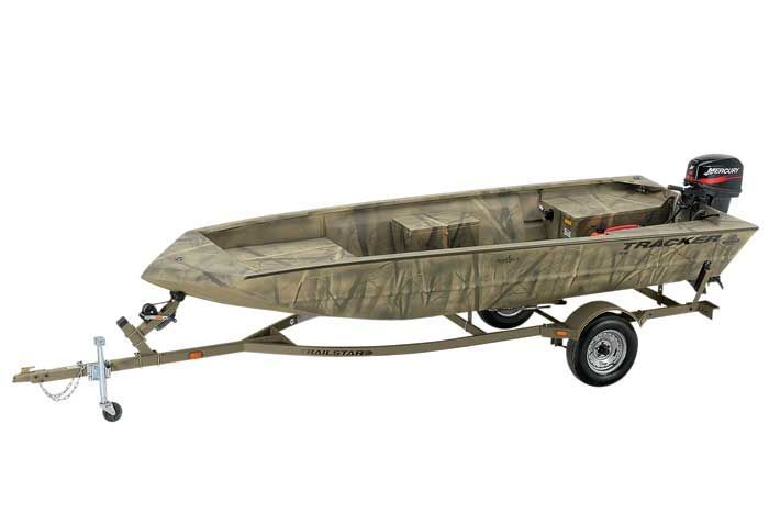 Research Tracker Boats Grizzly 1648 T Blind Duck Hunting