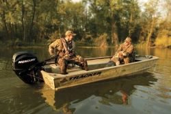 Tracker Boats Grizzly 1648 T Blind Duck Hunting and Duck Boat