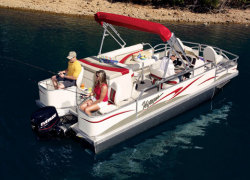 Voyager 20 Sport Fish Deluxe Pontoon Boat