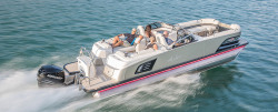 2018 - Avalon Pontoons - 27 Excalibur Quad Lounge Windshield