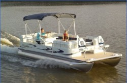 Bentley Boats 244 4 Point Fish Pontoon Boat