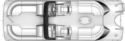 2020 - Berkshire Pontoon Boats - 25-Sport-RFX-DC
