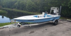 Skimmer Skiff 16. 50hp and Aluminum Trailer
