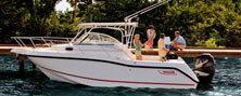 Boston Whaler Boats 255 Conquest Walkaround Boat