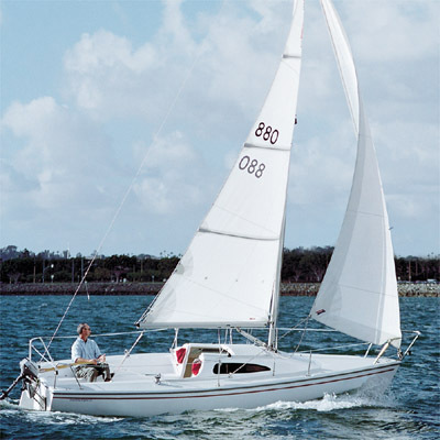 Research Catalina Sailboats Capri 22 Fin Keel Mega Yacht