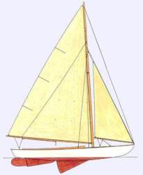 Chip Boats Indian Knockabout Sailboat