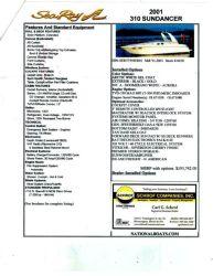 2001 sea ray 310