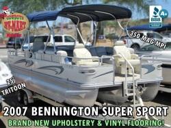 2007 BENNINGTON 2577 SUPER SPORT TRITOON