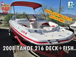 2008 Tahoe 216 Deck /Fish