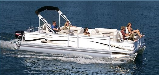 Research Crest Boats 22 Family Fisherman Pontoon Boat On