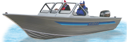 Gregor Boats MX 780 Walk-Thru Utility Boat