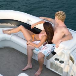 Flotebote-Flote Dek Crowne 250IO Pontoon Boat