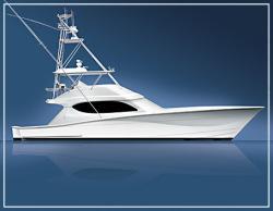 Hatteras Yachts 60 Convertible Pontoon Boat