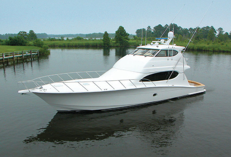 Research hatteras yachts 68 convertible pontoon boat on for Hatteras fishing boat