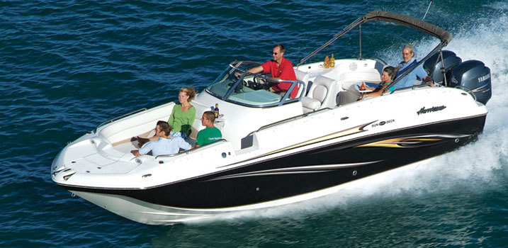 Research 2009 Hurricane Deck Boats 260 Ob Single On