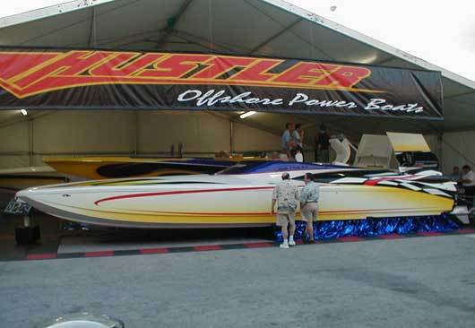 Hustler 377 powerboat for sale