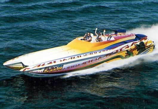Hustler 377 powerboat for sale