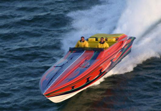Slingshot hustler boat