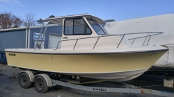 May-Craft 2300 Pilothouse w/Evinrude 150hp E-tec engine