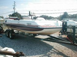 1991 K 2000 Ultima Deck Boat Mercruiser cut hull