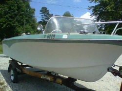 1967 Crestliner Shakespere Runabout Johnson Golden Meteor 100