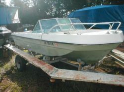 1971 Cacci Craft 16 Tri Hull Project Bowrider Outboard Hull